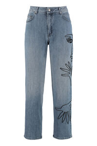 Embroidered mum fit jeans, Boyfriend Jeans Moschino woman