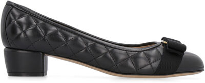 Vara quilted leather pumps