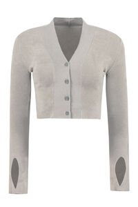 Cropped velour cardigan, Cardigan Jacquemus woman