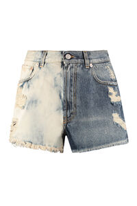 Destroyed denim shorts, Denim Shorts Givenchy woman