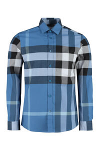Checked cotton shirt, Checked Shirts Burberry man