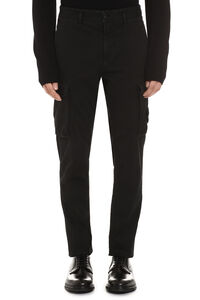 Stretch cotton cargo trousers, Casual trousers Stone Island man