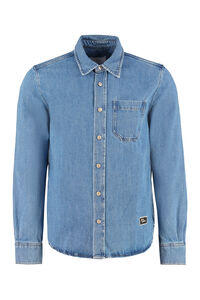 Logo detail denim shirt, Denim Shirts AMI man