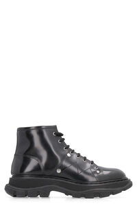 Leather lace-up boots, Ankle Boots Alexander McQueen woman