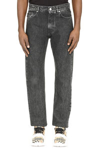 Five pocket straight-leg jeans, Straight jeans Versace man