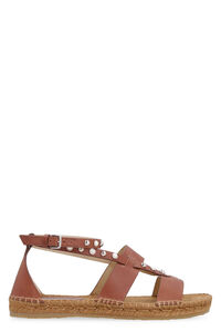 Denise studded leather flat sandals, Flat sandals Jimmy Choo woman