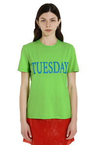 Fluo Rainbow Week Tuesday t-shirt, T-shirts Alberta Ferretti woman