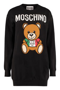 Italian Teddy Bear intarsia knit-dress, Mini dresses Moschino woman