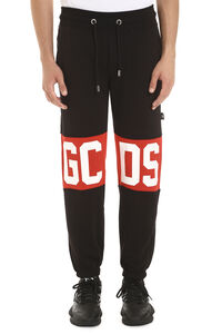 Logoed contrast stripes sweatpants, Track Pants GCDS man
