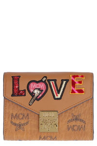 Patricia Small leather flap-over wallet, Wallets MCM woman