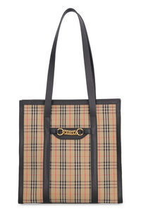 The Link check canvas tote bag, Tote bags Burberry woman