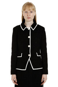Boucle' wool single-breasted jacket, Blazers Boutique Moschino woman