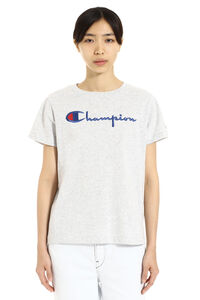 Logo detail cotton T-shirt, T-shirts Champion woman