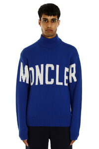 Turtleneck virgin-wool pullover, Turtleneck Moncler man