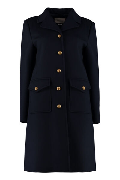 Metal buttons wool coat