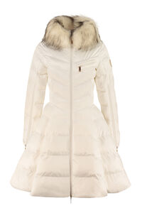 Faux fur collar down jacket, Down Jackets Elisabetta Franchi woman