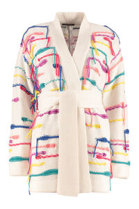 Belted cashmere blend cardigan, Cardigan Canessa woman