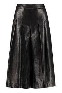 Faux leather wide-leg trousers, Leather pants Boutique Moschino woman