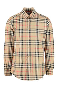 Cotton poplin shirt, Checked Shirts Burberry man