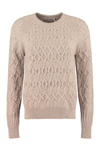 Cable knit pullover, Crew neck sweaters Agnona woman