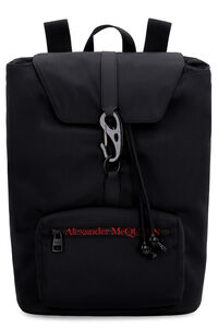 Urban logo detail nylon backpack, Backpack Alexander McQueen man