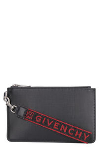 Logoed wristlet pouch, Poches Givenchy man
