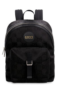 Gucci Off The Grid logo detail nylon backpack, Backpack Gucci man