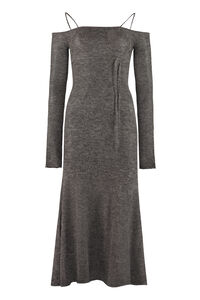 Knitted off-the-shoulder dress, Midi dresses Jacquemus woman