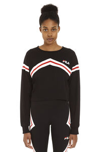 Logo print long-sleeve top, Long sleeved Fila woman