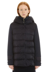 Padded jacket with zip and snaps, Down Jackets Herno woman