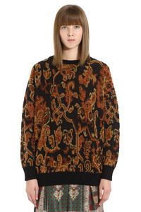 Paisley jacquard sweater, Crew neck sweaters Etro woman