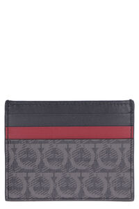 Coated canvas card holder, Wallets Salvatore Ferragamo man