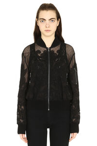 Embroidered tulle bomber jacket, Bomber Red Valentino woman