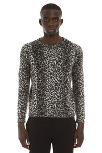 Jacquard wool pullover, Crew necks sweaters Saint Laurent man