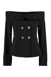 Distratto stretch double-breasted blazer, Blazers Pinko woman