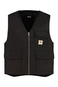 Insulated fabric vest, Gilets Stüssy man