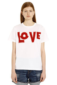 Cotton t-shirt with patches, T-shirts 2 Moncler 1952 woman