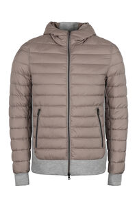 Knitted insert down jacket, Down jackets Herno man