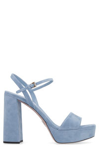 Suede ankle strap sandals, High Heels sandals Prada woman