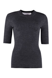 Ribbed wool sweater, Crew neck sweaters Iro woman
