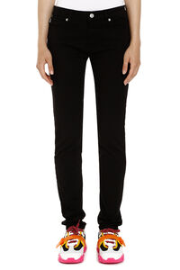 Stretch cotton trousers, Skinny leg pants Love Moschino woman