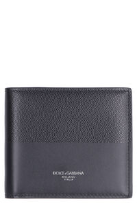 Flap-over leather wallet, Wallets Dolce & Gabbana man