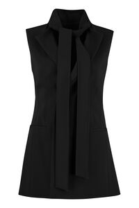 Belted long vest, Blazers Red Valentino woman