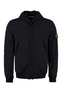 Hooded padded bomber jacket, Bomber jackets Stone Island man
