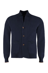 Buttoned cotton cardigan, Cardigans Brunello Cucinelli man