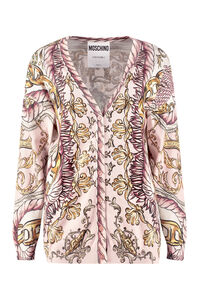 Printed cotton cardigan, Cardigan Moschino woman