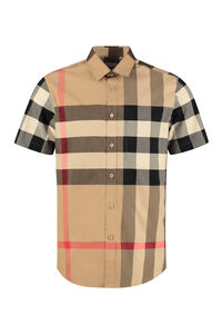 Short sleeve cotton shirt, Short sleeve Shirts Burberry man