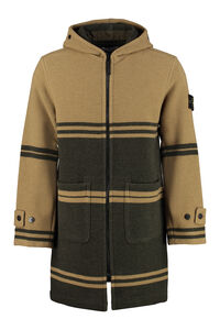 Hooded wool coat, Overcoats Stone Island man