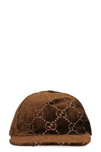 Embroidered velvet baseball cap, Hats Gucci woman