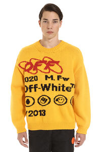 Industrial Y013 intarsia sweater, Crew necks sweaters Off-White man